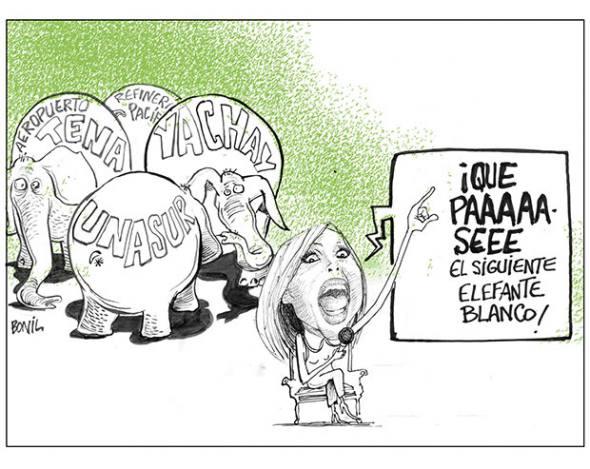 Rafael Correa y su obsesión con las viñetas