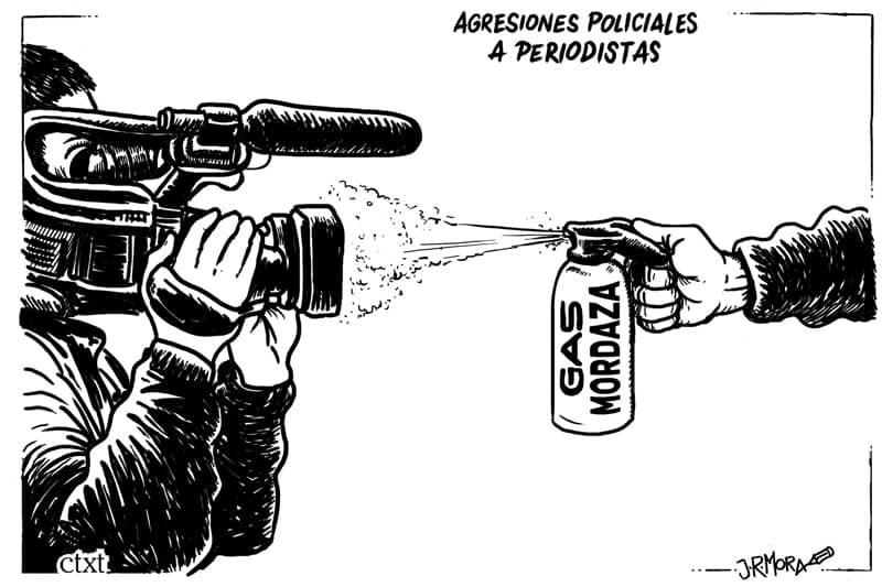 Agresiones policiales a periodistas